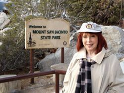 Joan London visiting Mount San Jacinto State Park in Palm Desert, CA