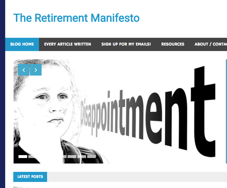 Retirement Manifesto blog